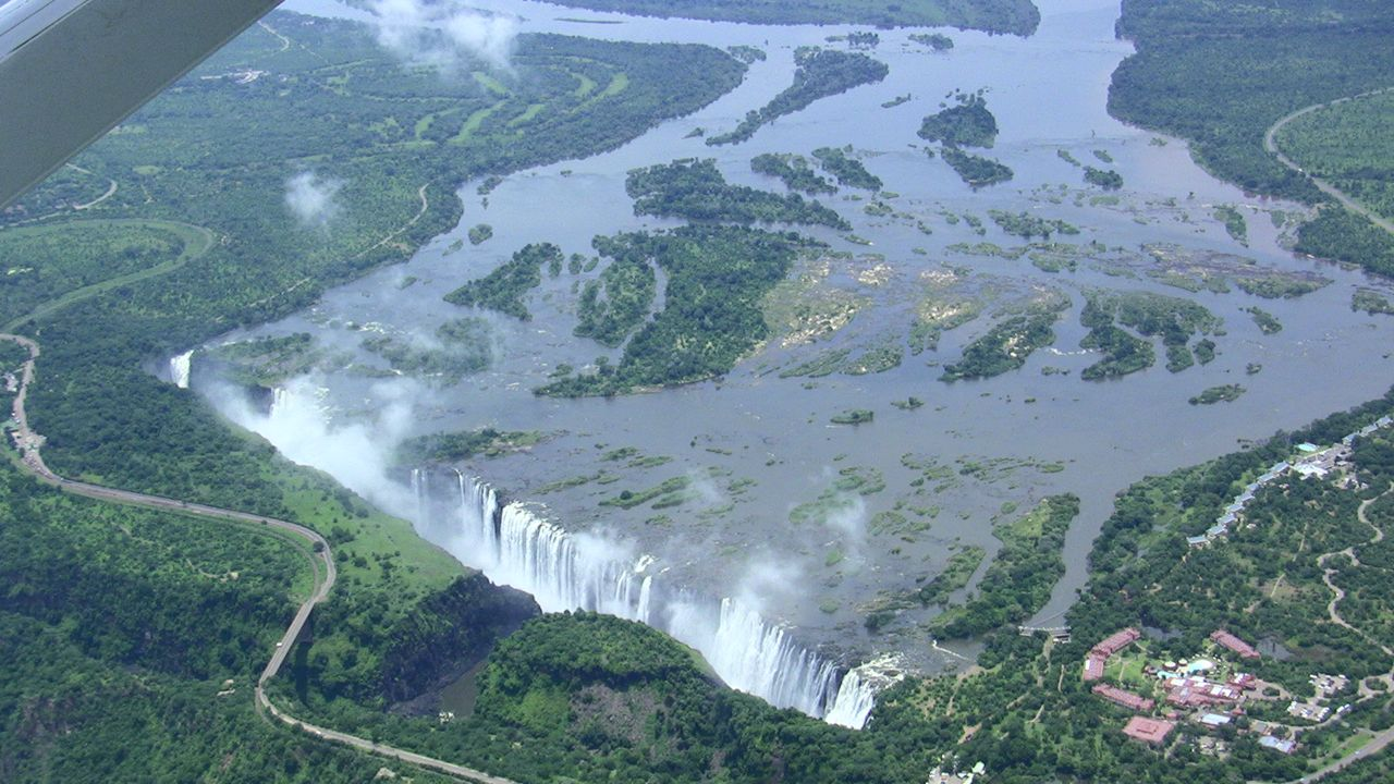 Victoria Falls in Southern Zambia spills 300-3000 cubic meters per second of water over its edge.  What an awesome picture of God's abundant GRACE!