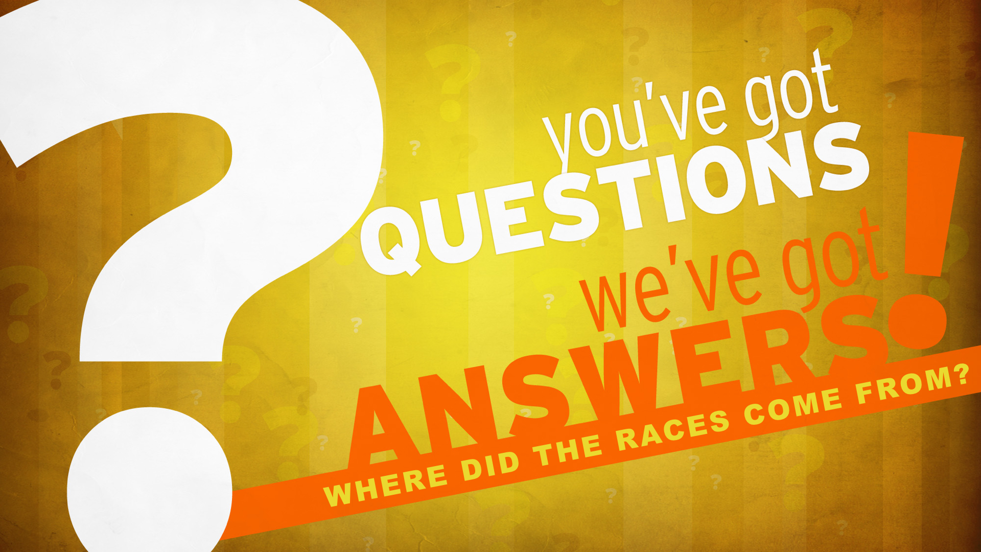 Where Did Races Come?.001